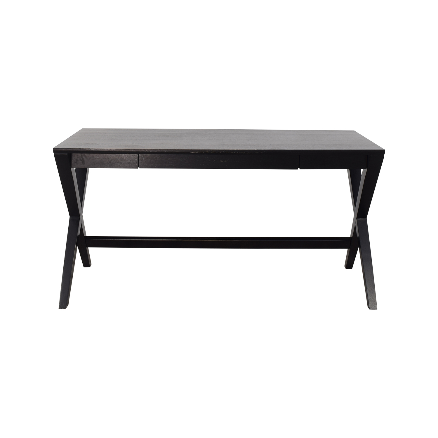 Crate & Barrel Crate & Barrel Spotlight Ebony X-Leg Desk nyc