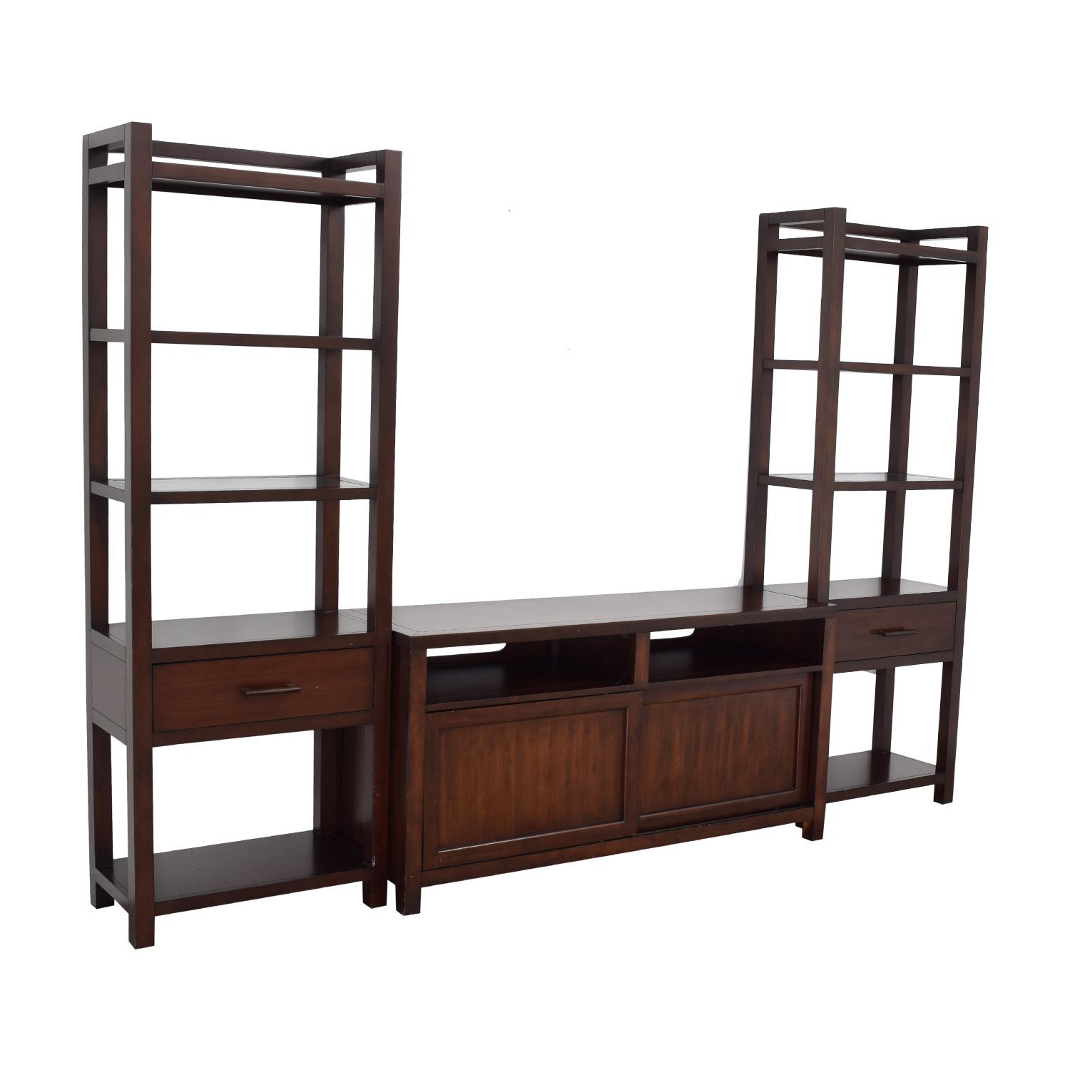 Crate & Barrel Crate & Barrel Media Console with Two Towers second hand