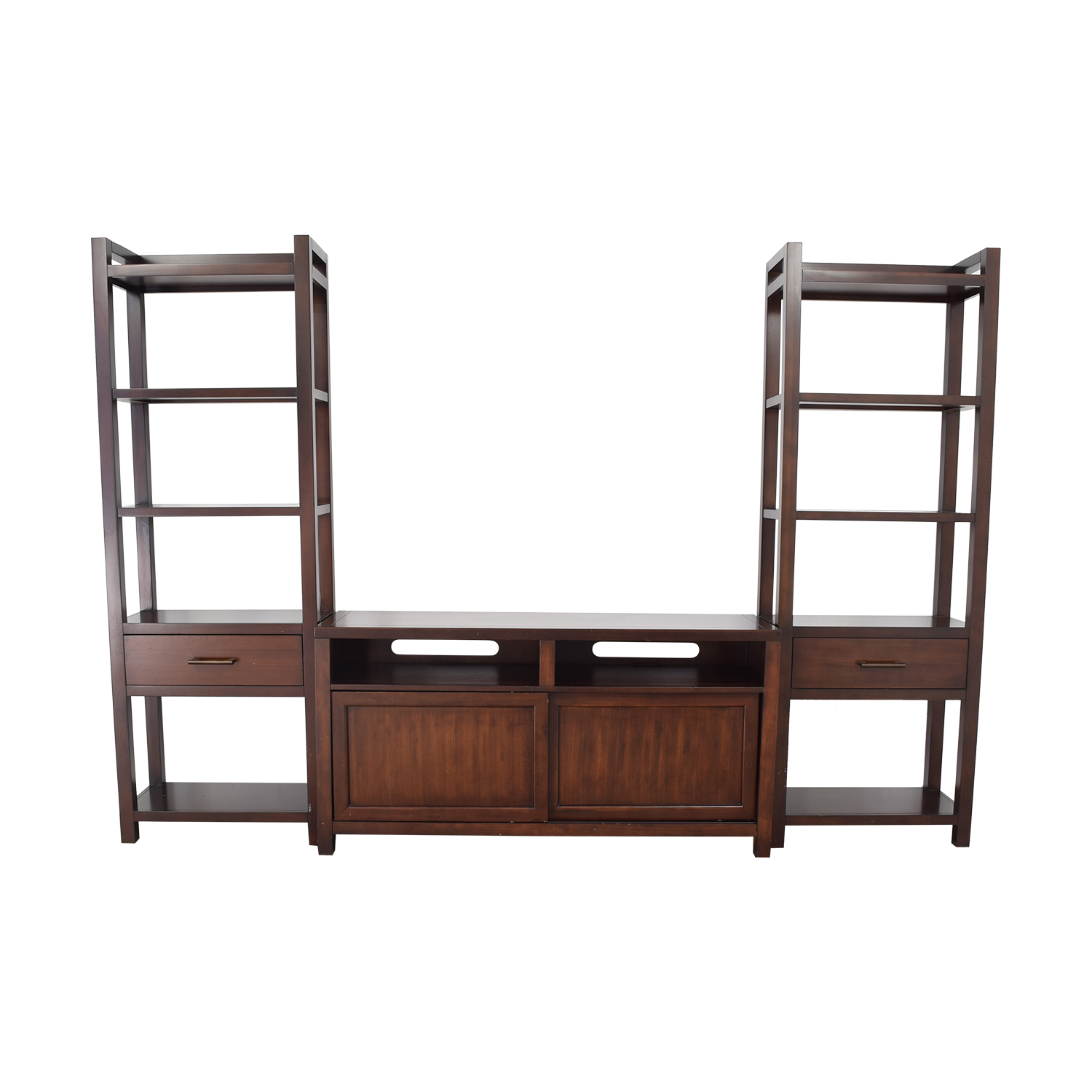 buy Crate & Barrel Media Console with Two Towers Crate & Barrel Storage