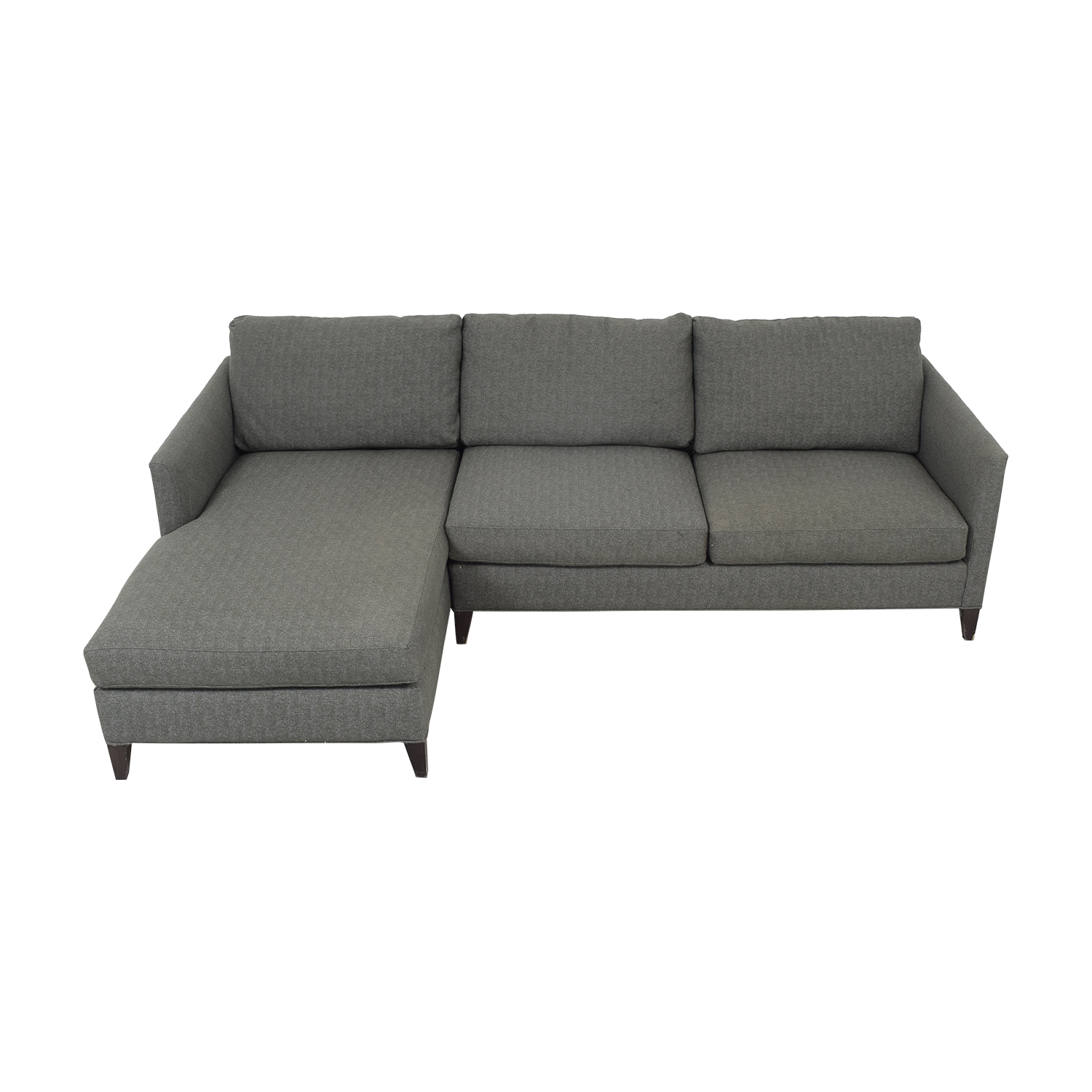 Crate & Barrel Crate & Barrel Chaise Sectional Sofa pa