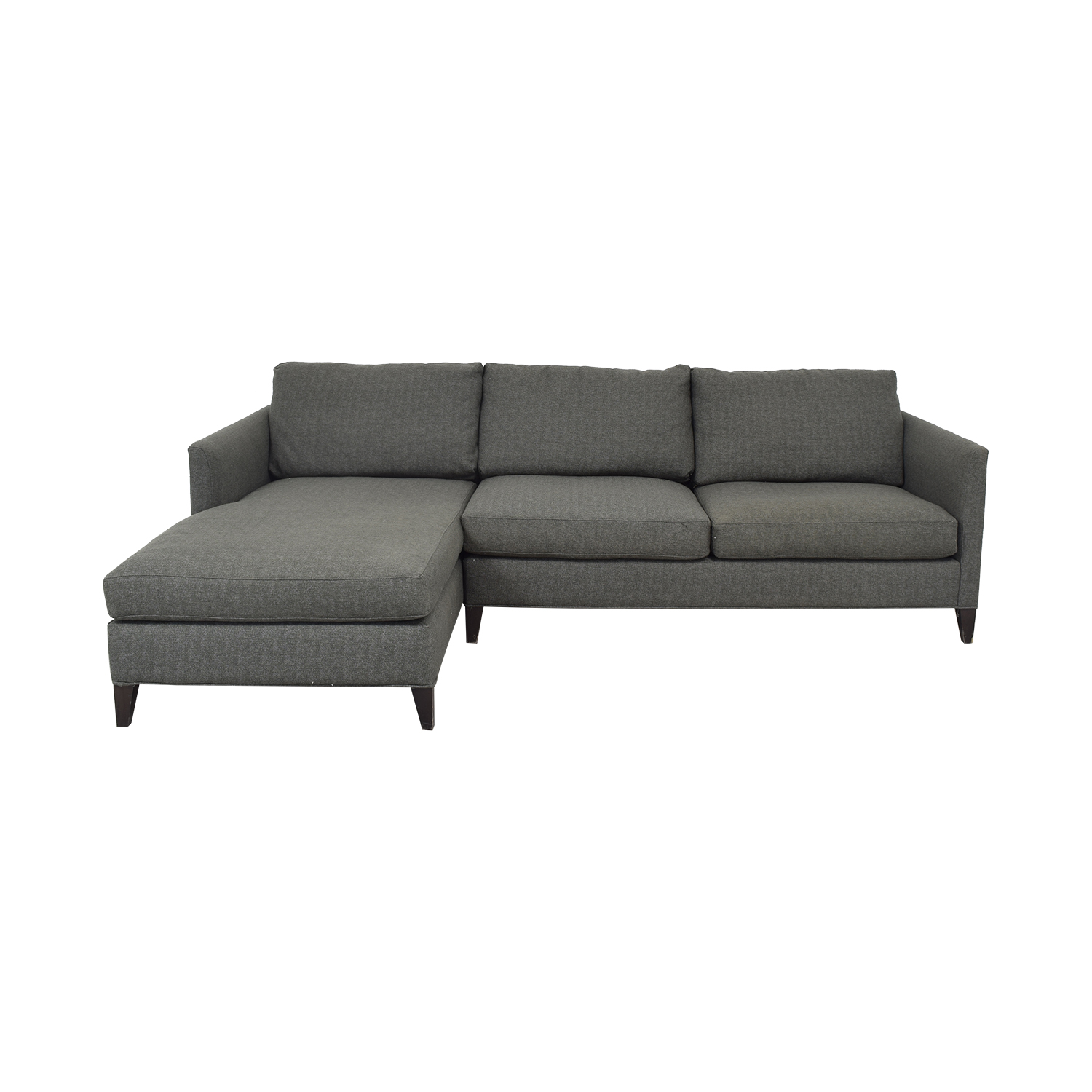 Crate & Barrel Crate & Barrel Chaise Sectional Sofa used