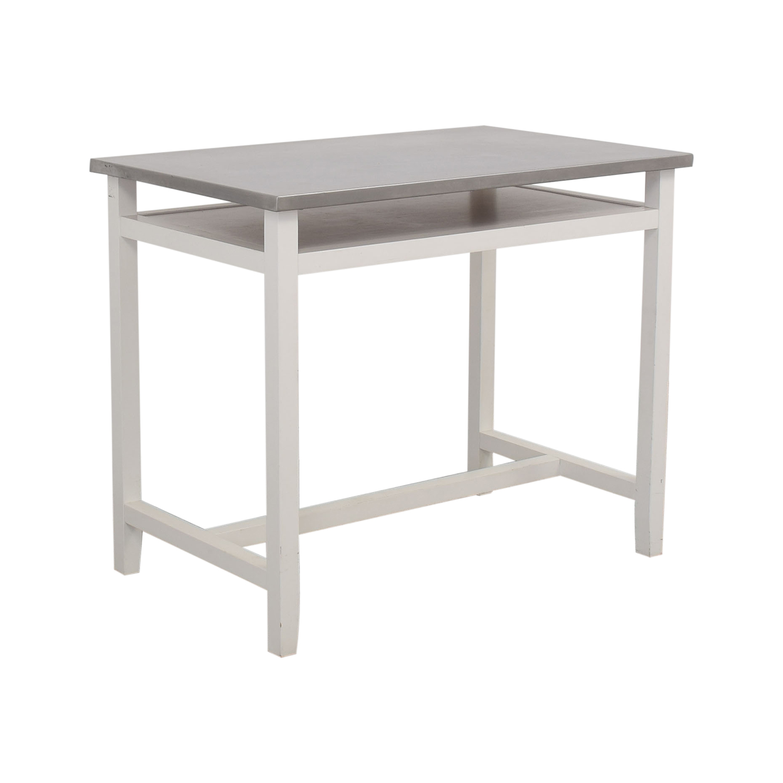 Crate & Barrel Crate & Barrel Belmont Desk silver & white