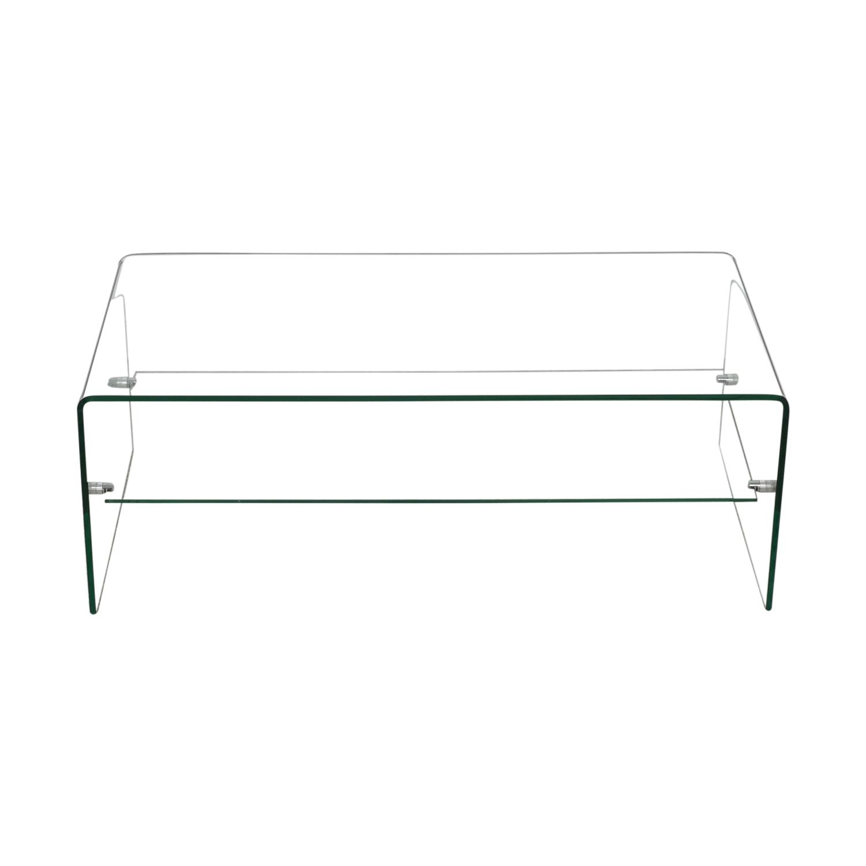 Glass Coffee Table With Shelf 6