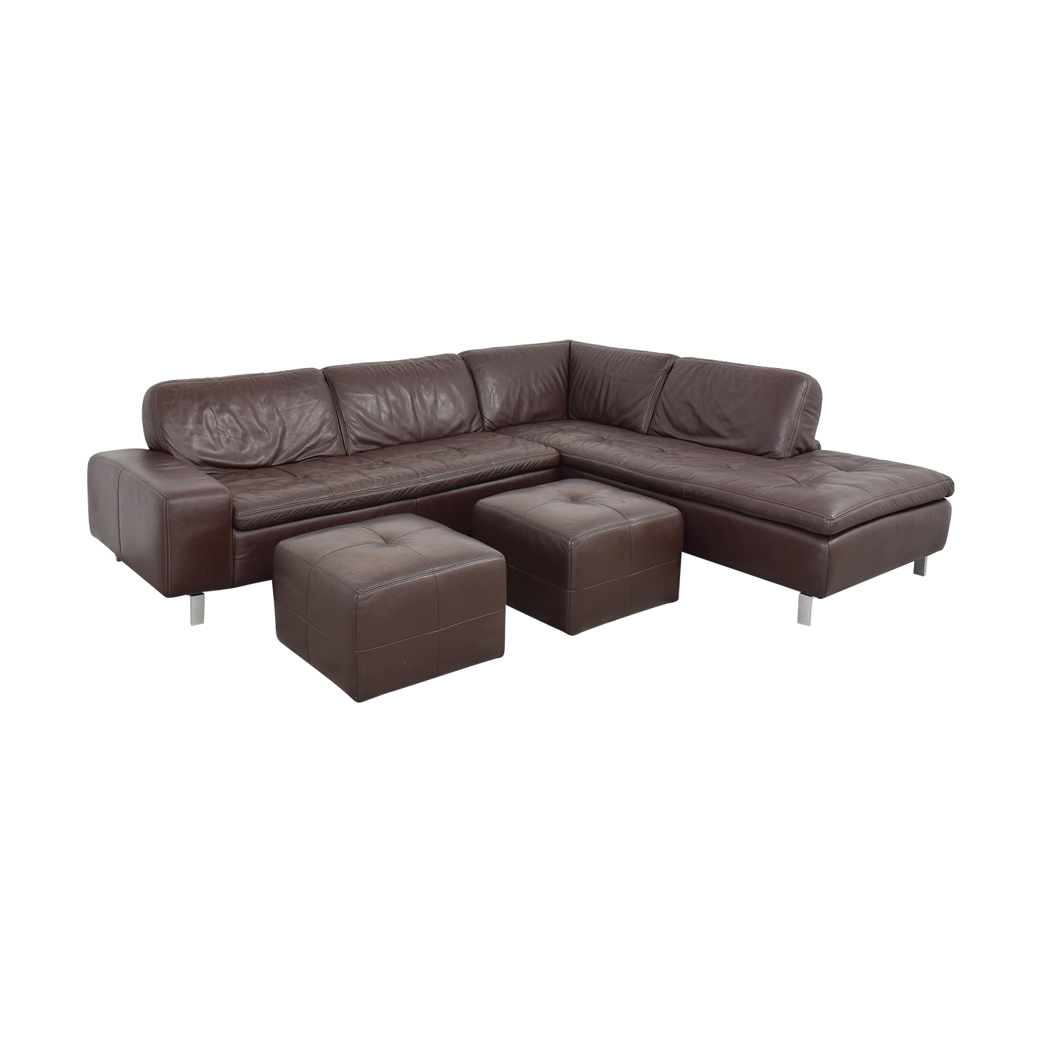 buy Bloomingdale's Bloomingdale's Sectional Sofa with Chaise and Ottomans online