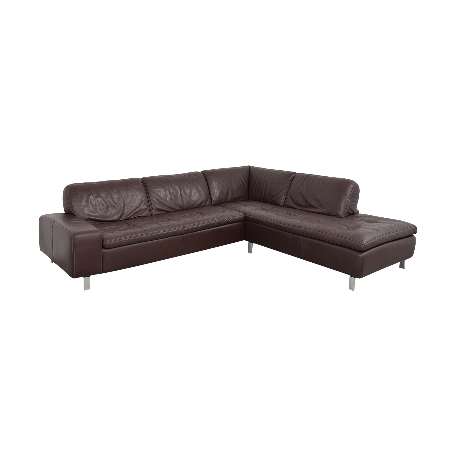 Bloomingdale's Bloomingdale's Sectional Sofa with Chaise and Ottomans second hand