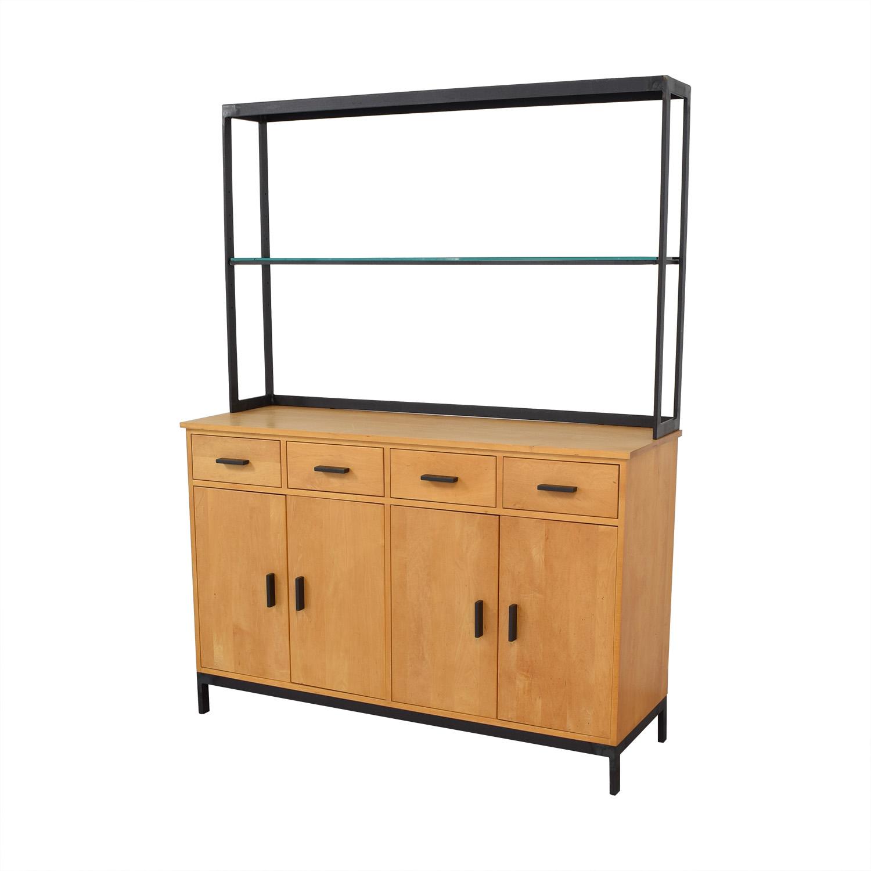 Room & Board Room & Board Credenza with Open Hutch dimensions
