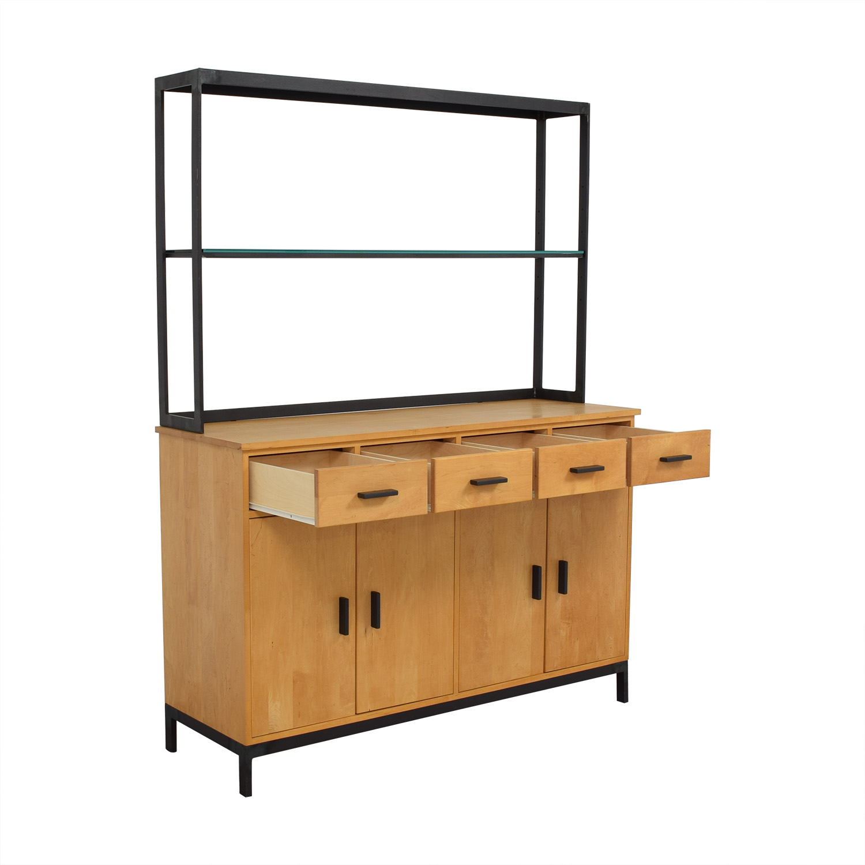 Room & Board Room & Board Credenza with Open Hutch discount