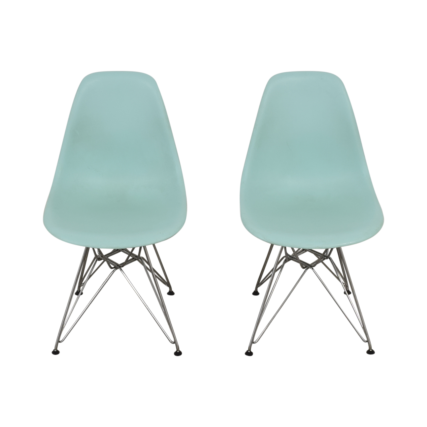 Herman Miller Herman Miller Eames Molded Plastic Side Chair with Wire Base for sale