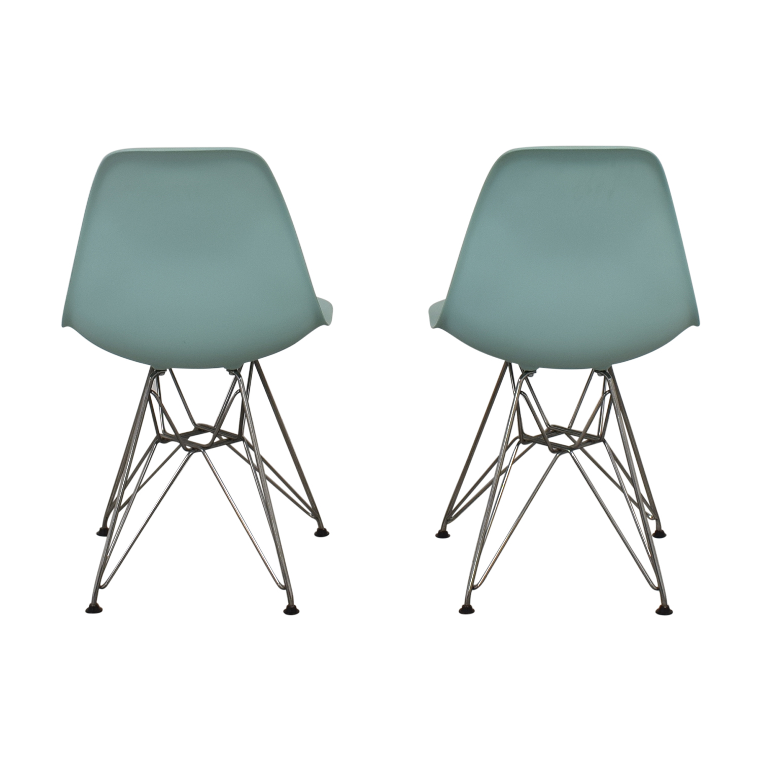 shop Herman Miller Eames Molded Plastic Side Chair with Wire Base Herman Miller Chairs