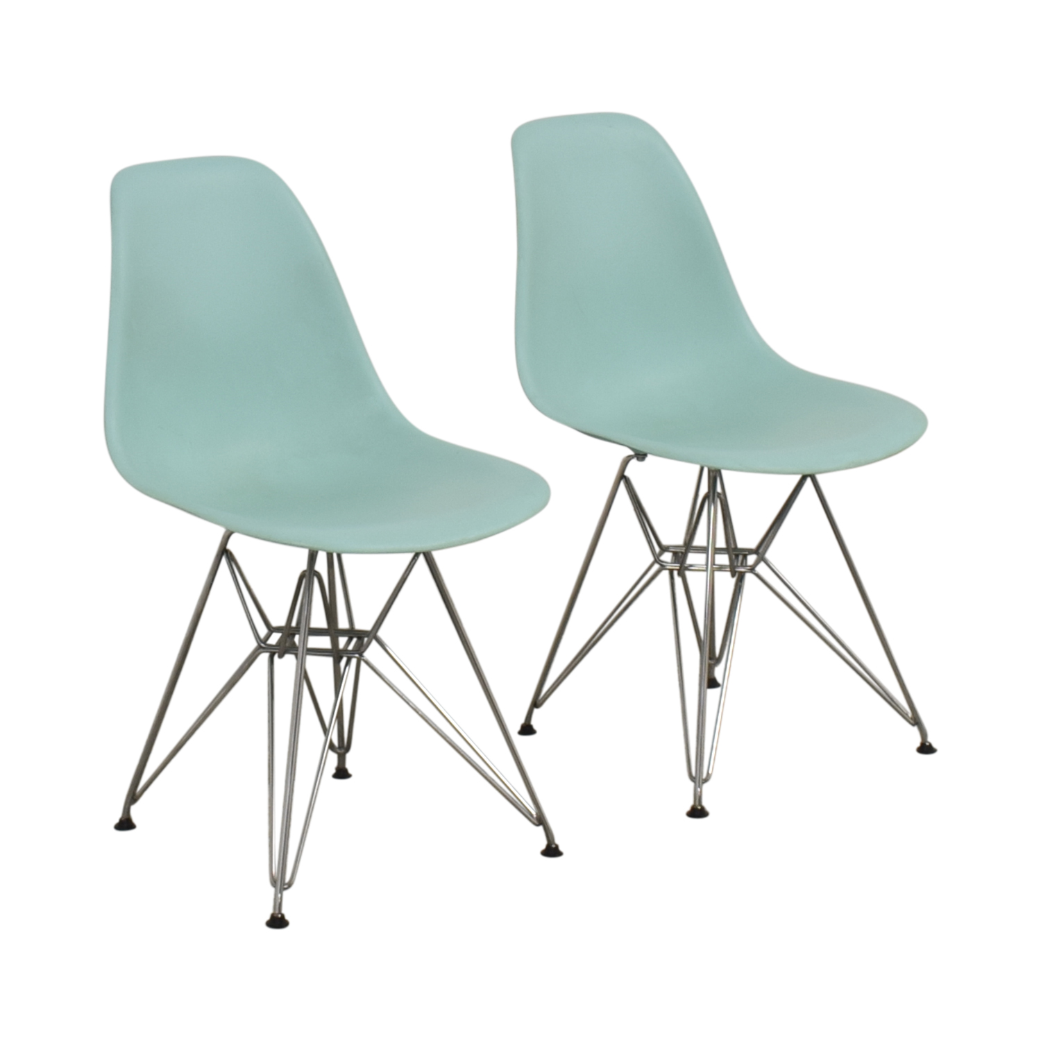 Herman Miller Herman Miller Eames Molded Plastic Side Chair with Wire Base coupon