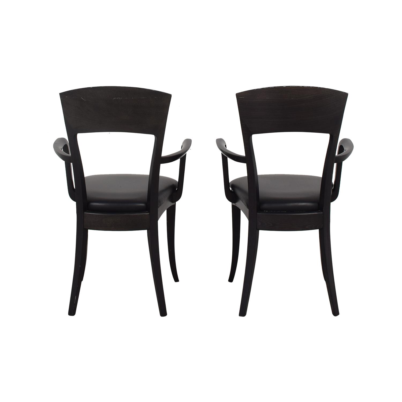 Room & Board A Sibau Dining Arm Chairs