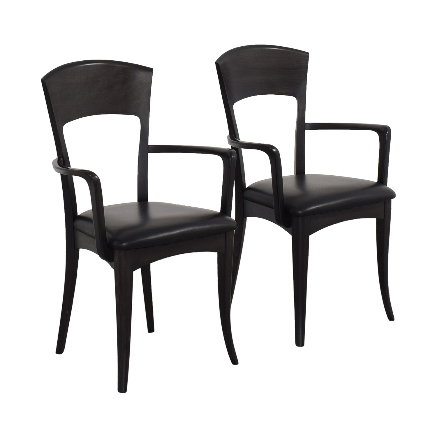 Room & Board A Sibau Dining Arm Chairs ct