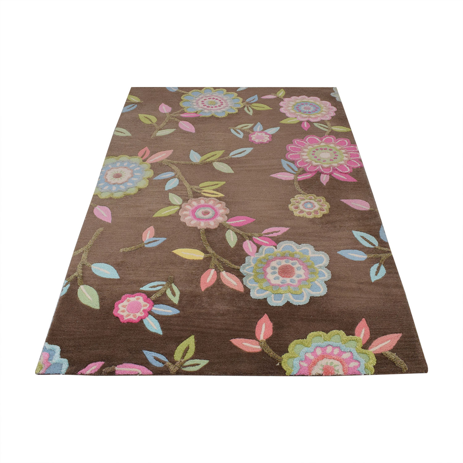 Pottery Barn Kids Pottery Barn Teen Floral Area Rug second hand