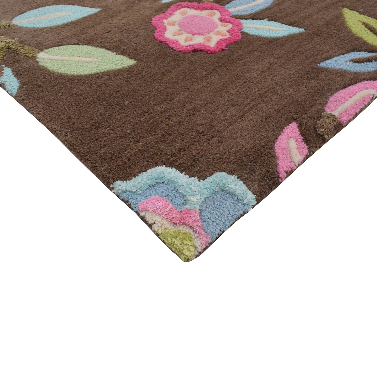 Pottery Barn Teen Floral Area Rug / Rugs