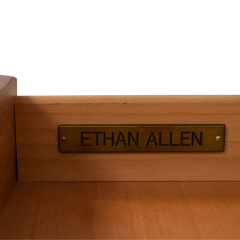 buy Ethan Allen Hawke Double Pedestal Desk with Bulletin Board Ethan Allen Home Office Desks