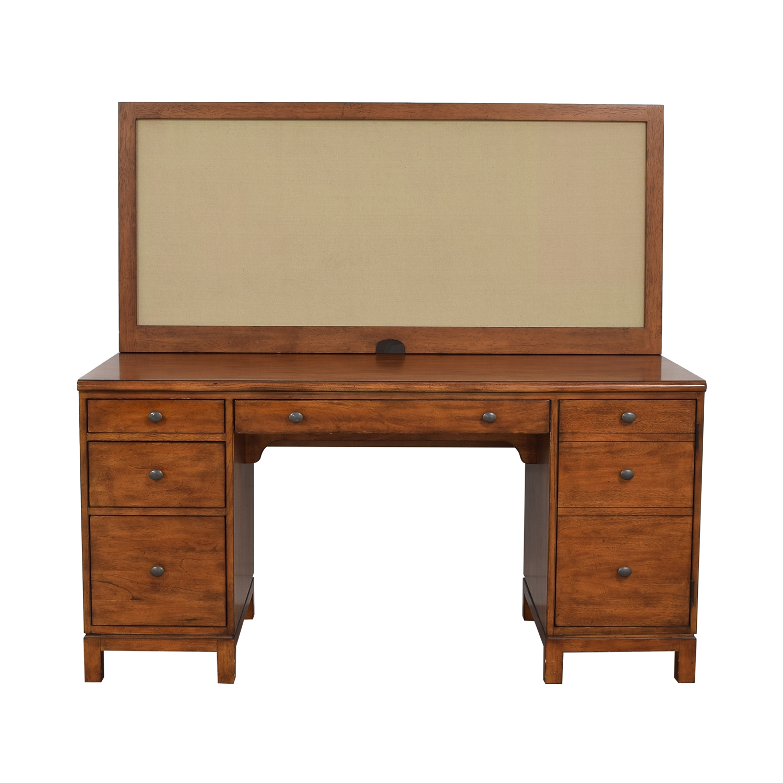 Ethan Allen Ethan Allen Hawke Double Pedestal Desk with Bulletin Board Tables