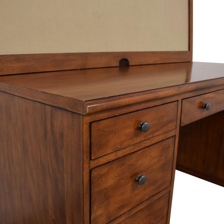 Ethan Allen Ethan Allen Hawke Double Pedestal Desk with Bulletin Board nyc