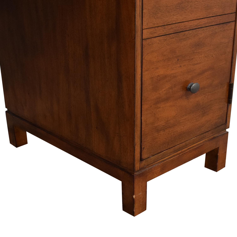 Ethan Allen Ethan Allen Hawke Double Pedestal Desk with Bulletin Board brown