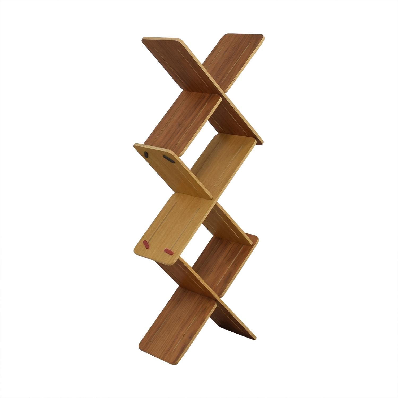 buy Tabanda Modular Shelf 3x Oak DYNKS Tabanda Bookcases & Shelving
