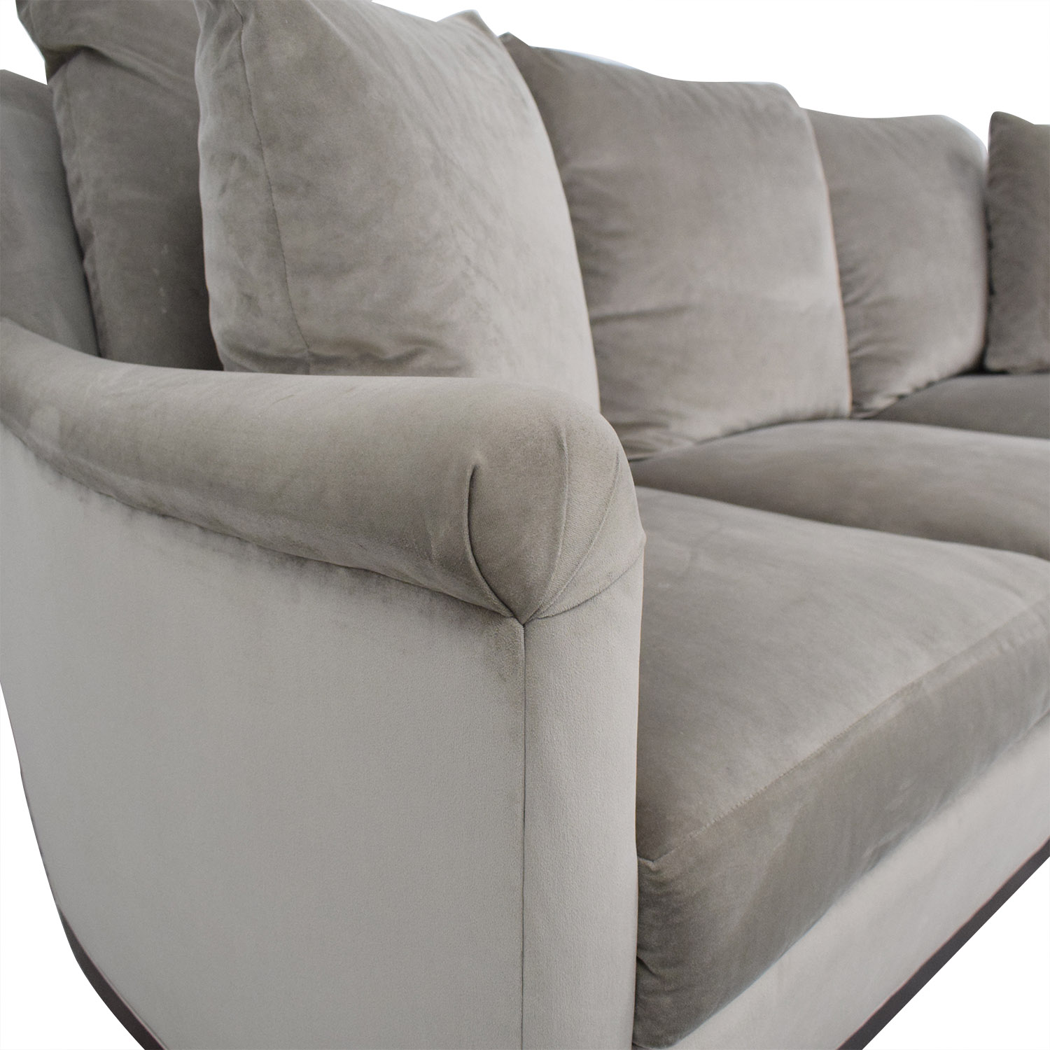 Safavieh Safavieh Roll Arm Velvet Sofa second hand