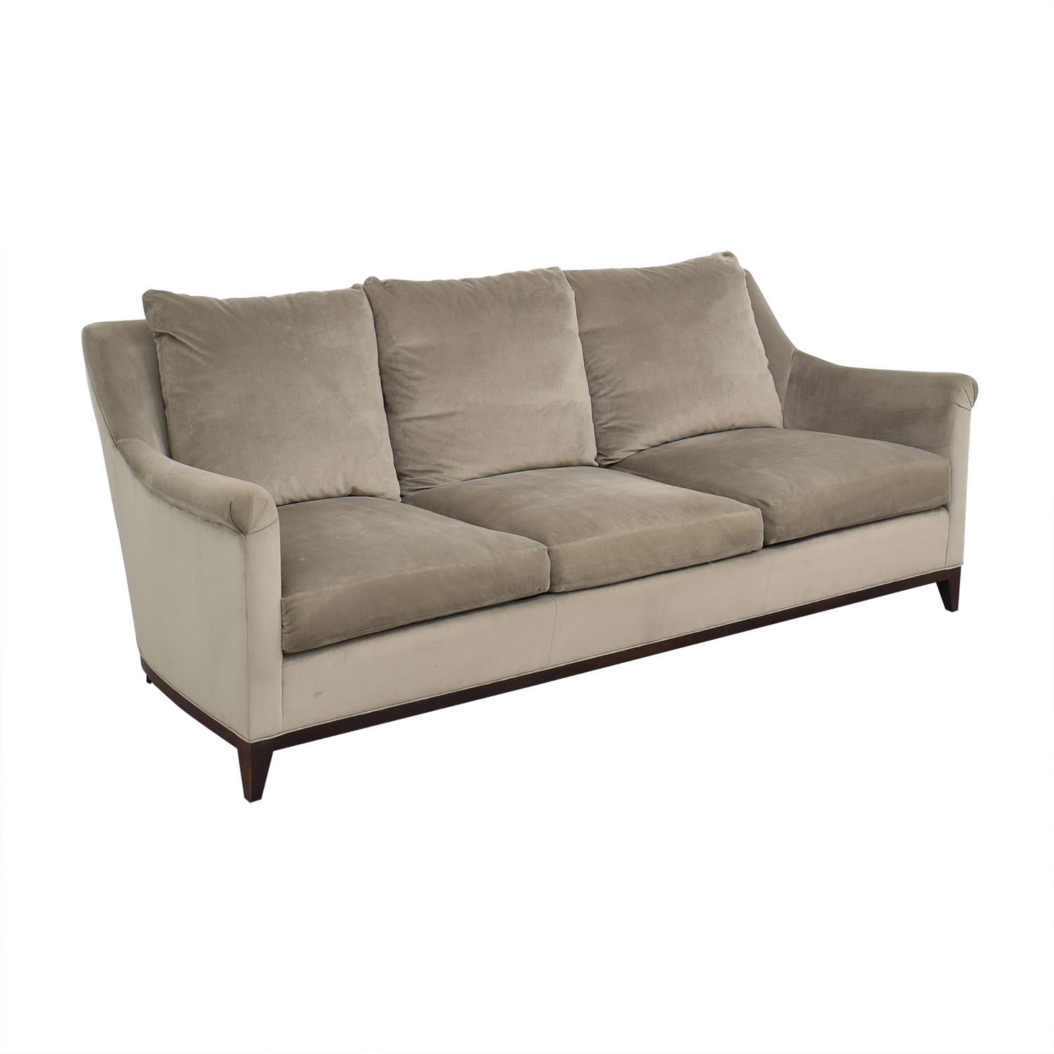 Safavieh Safavieh Roll Arm Velvet Sofa on sale