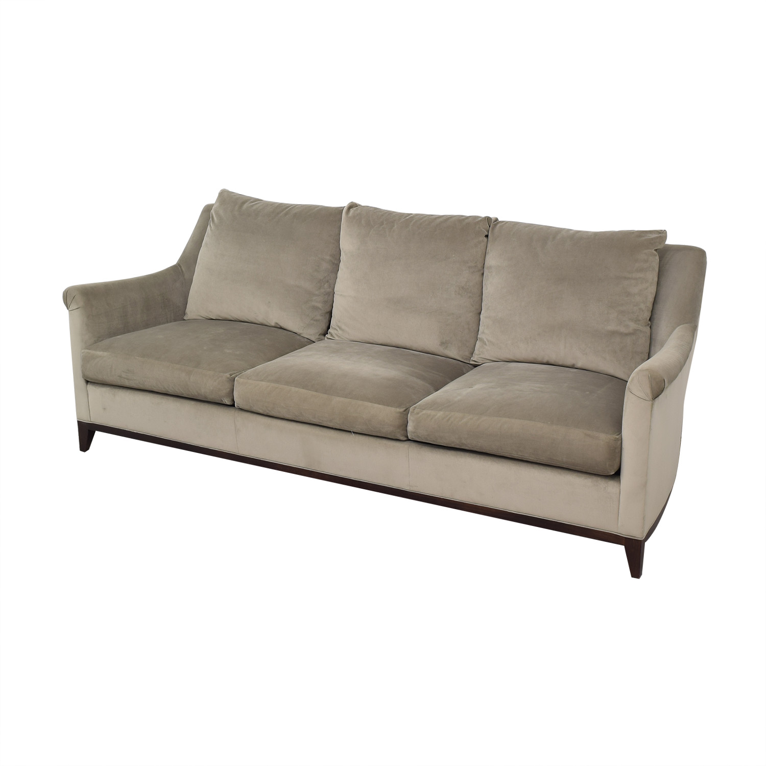 shop Safavieh Roll Arm Velvet Sofa Safavieh Classic Sofas