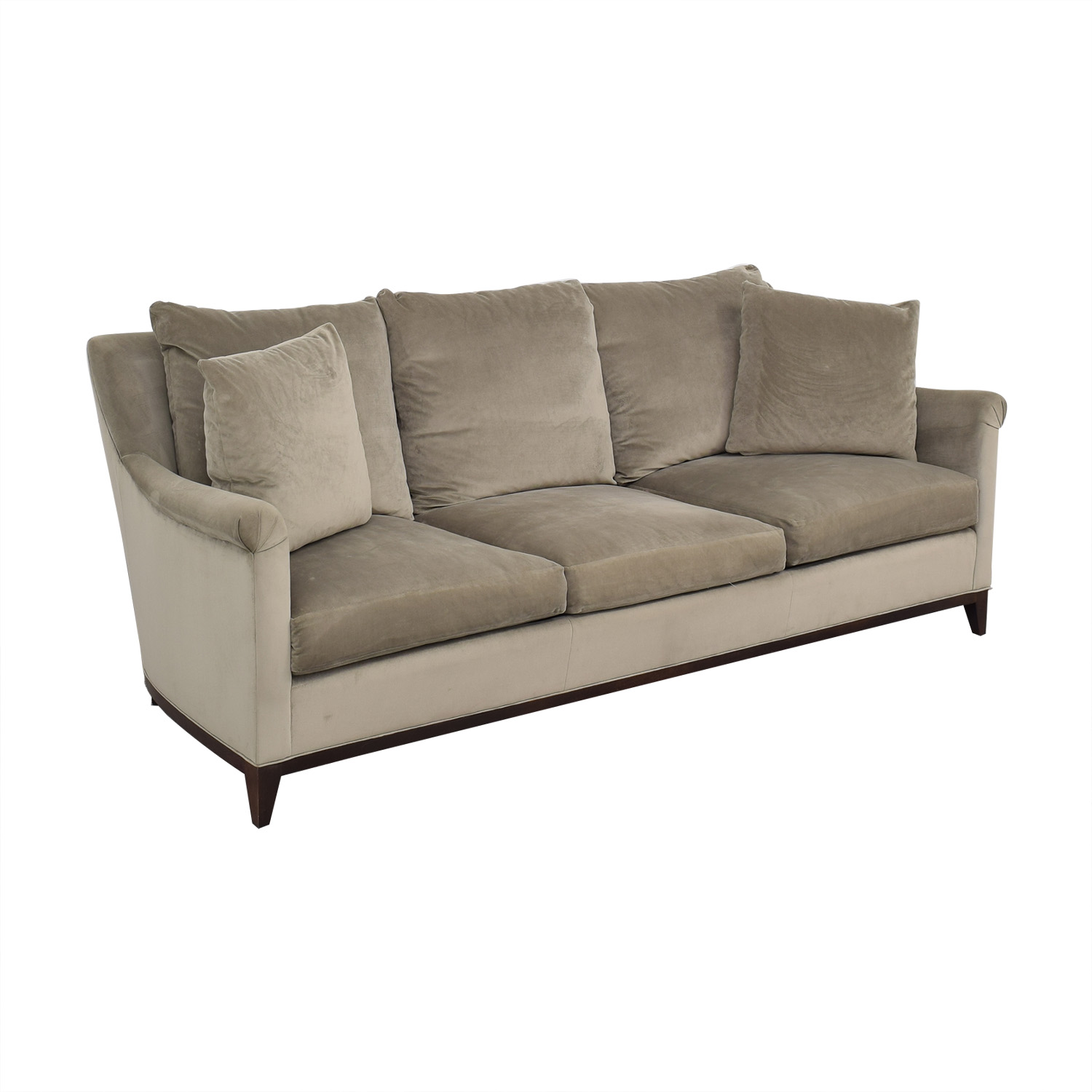 Safavieh Safavieh Roll Arm Velvet Sofa nj