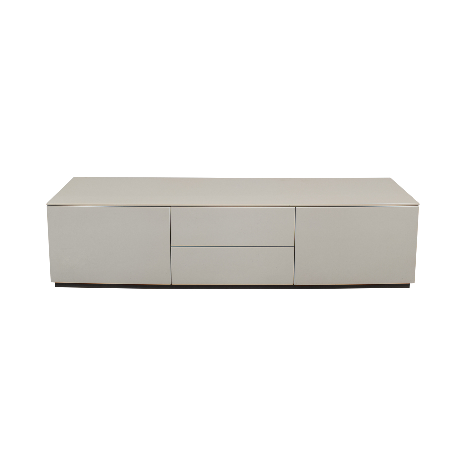 buy Italian White High Gloss Media Console  Media Units