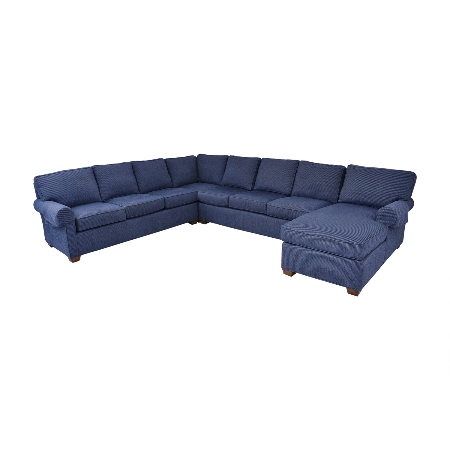 Wesley Hall Wellesley Hall Rolled Arm Sectional Sofa with Chaise nj