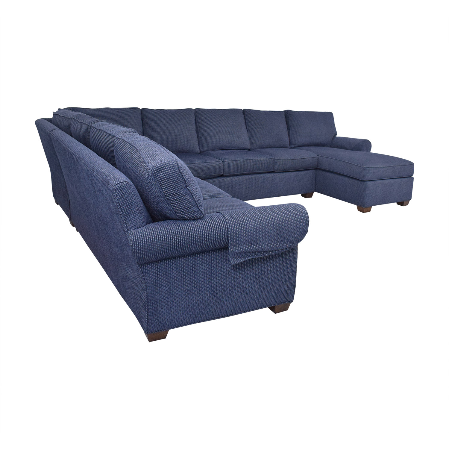 Wellesley Hall Rolled Arm Sectional Sofa with Chaise / Sectionals