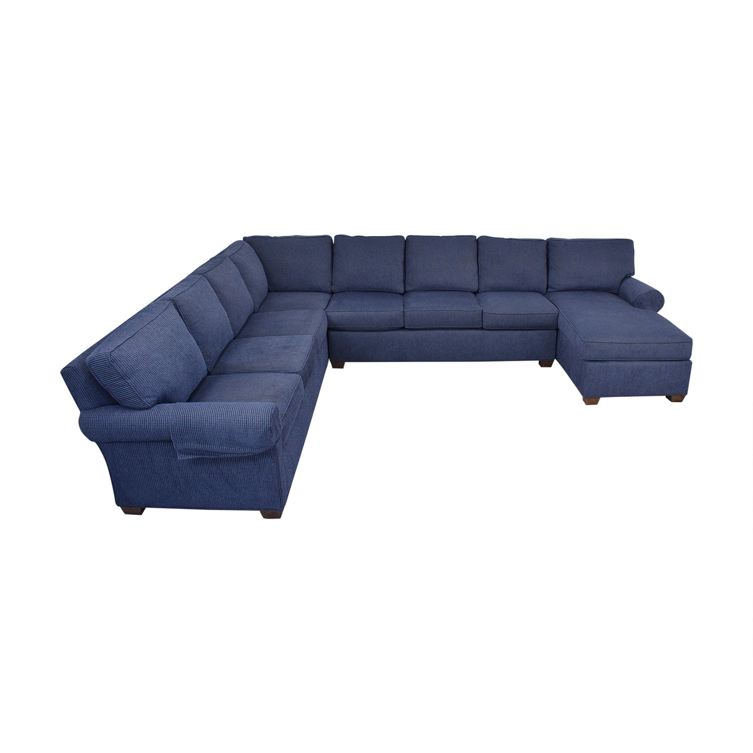 Wesley Hall Wellesley Hall Rolled Arm Sectional Sofa with Chaise discount