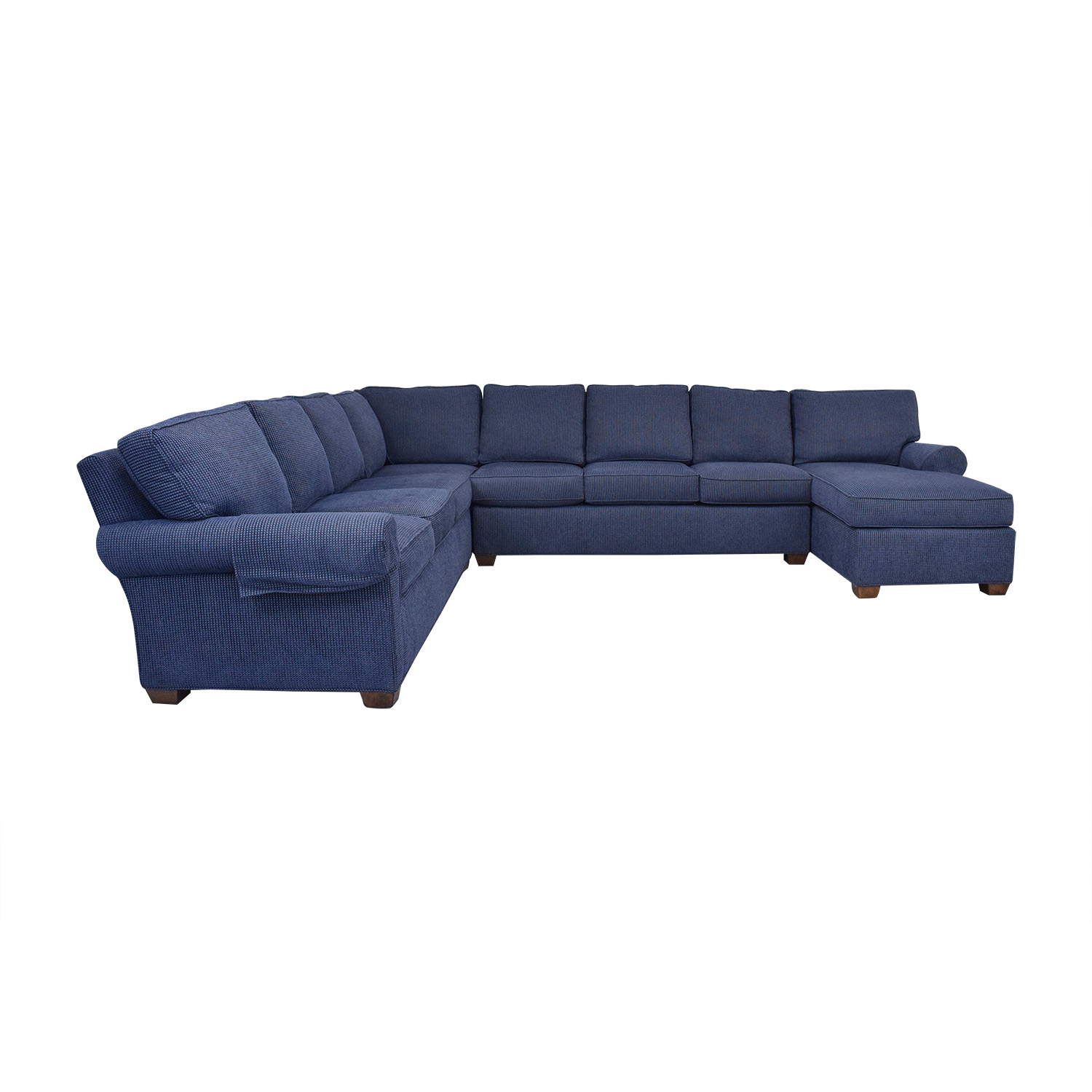Wesley Hall Wellesley Hall Rolled Arm Sectional Sofa with Chaise Sofas
