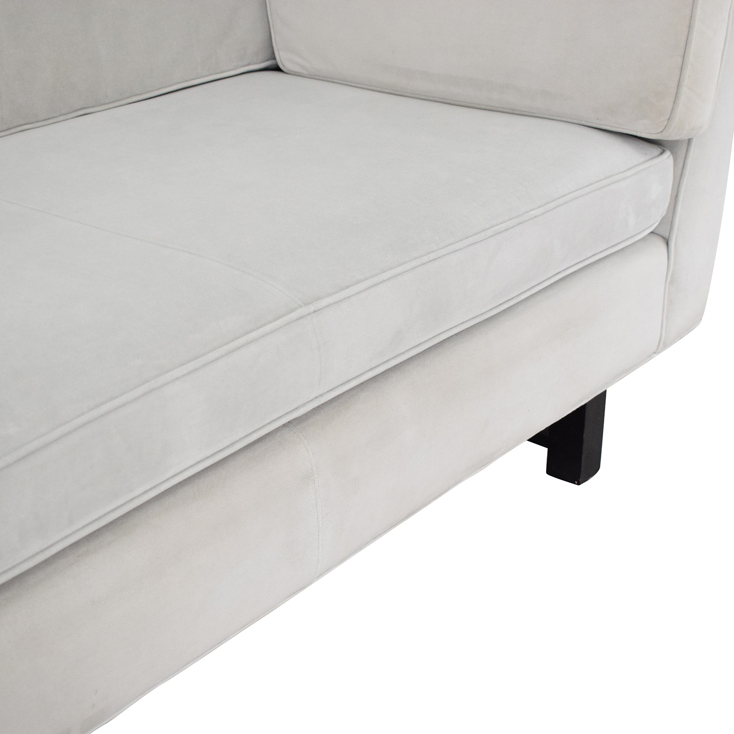 Room & Board Room & Board Naomi Bench Cushion Sofa light gray