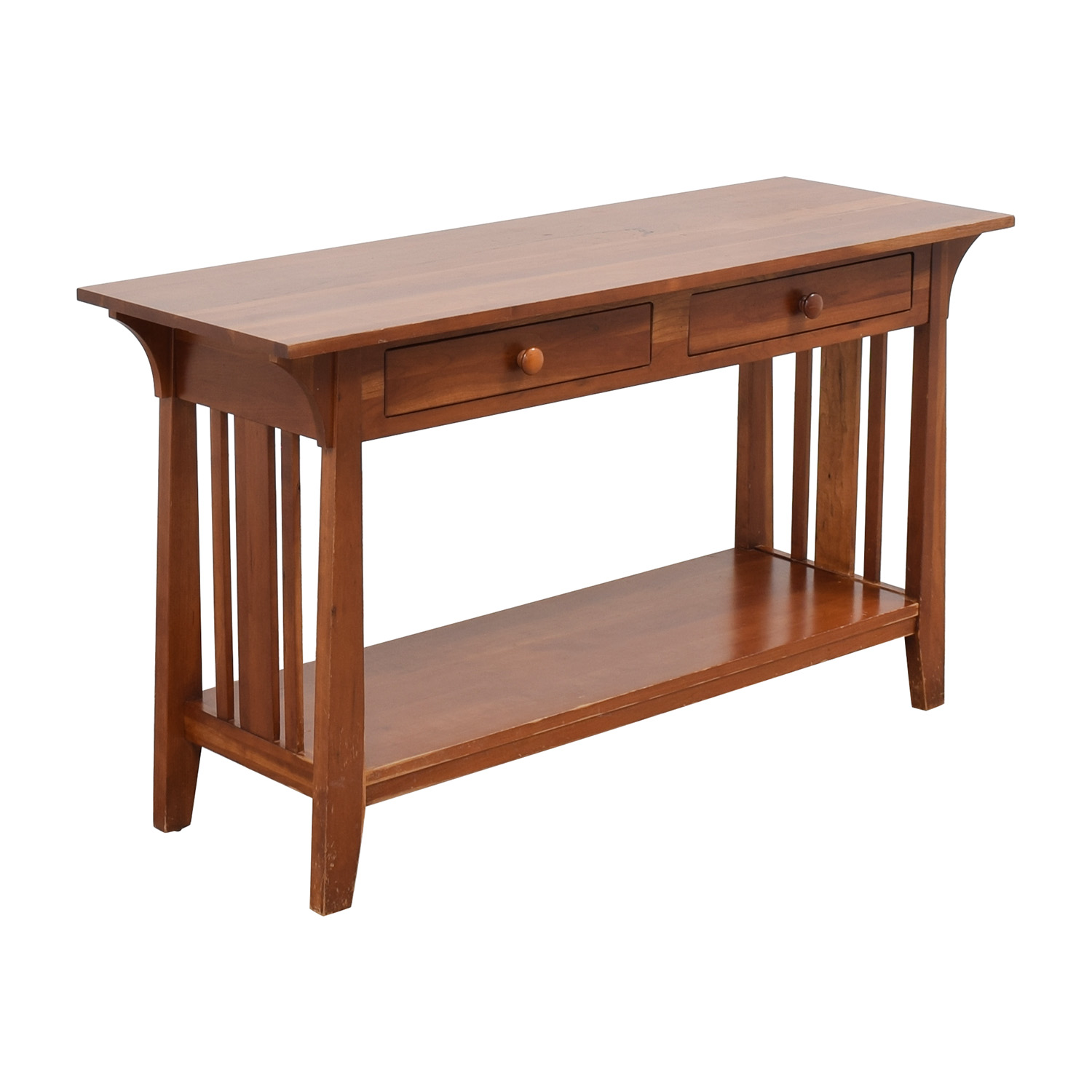 buy Ethan Allen Console with Drawers Ethan Allen