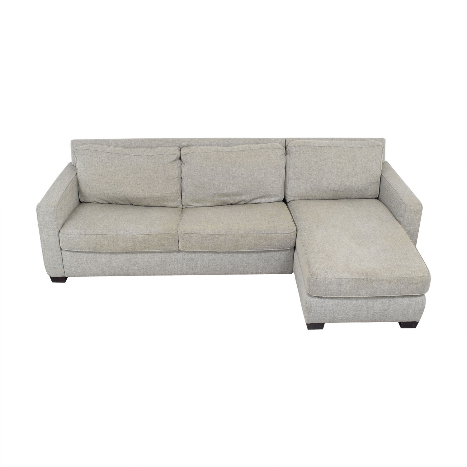 shop West Elm Henry Two Piece Full Sleeper Sectional with Storage West Elm Sofa Beds