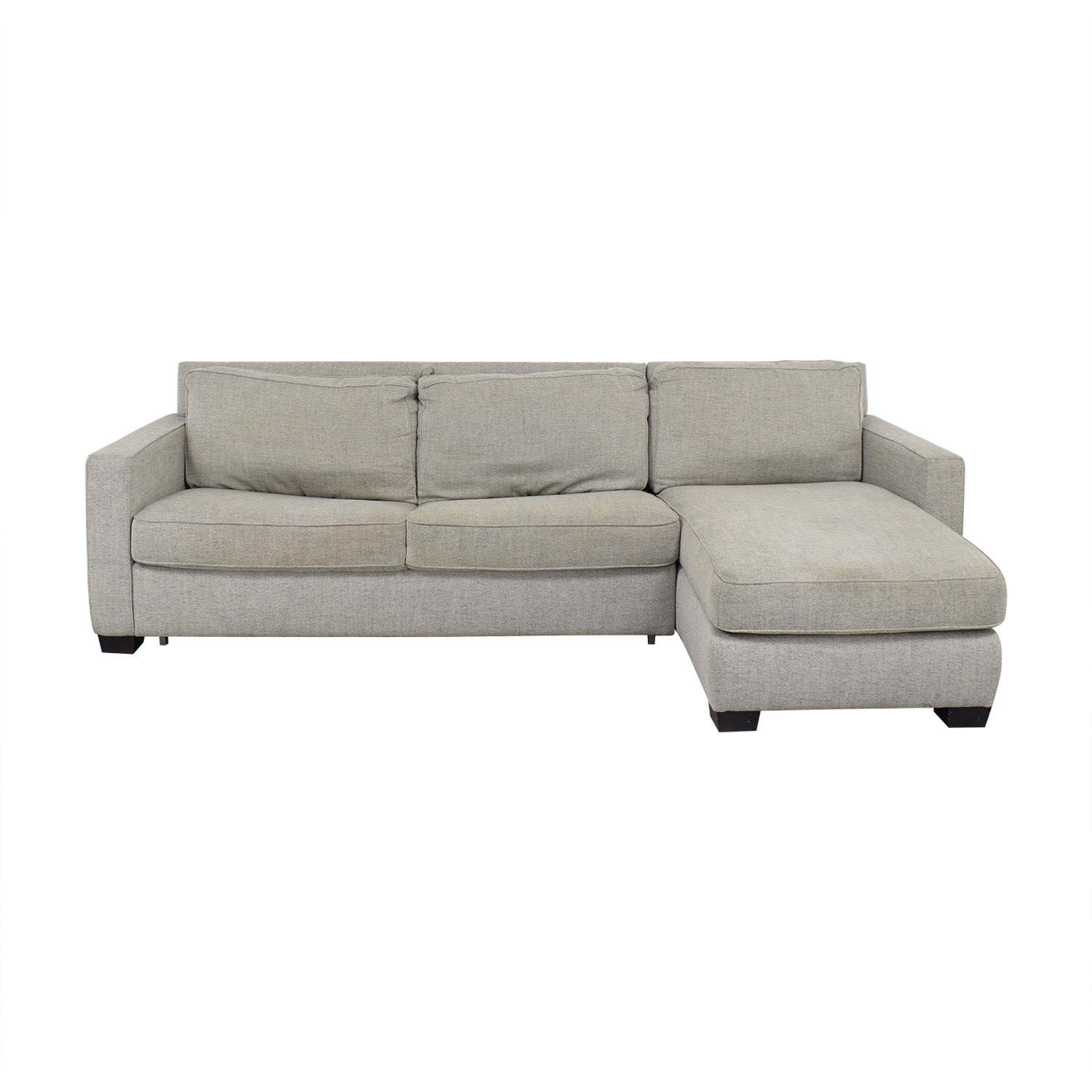 shop West Elm West Elm Henry Two Piece Full Sleeper Sectional with Storage online