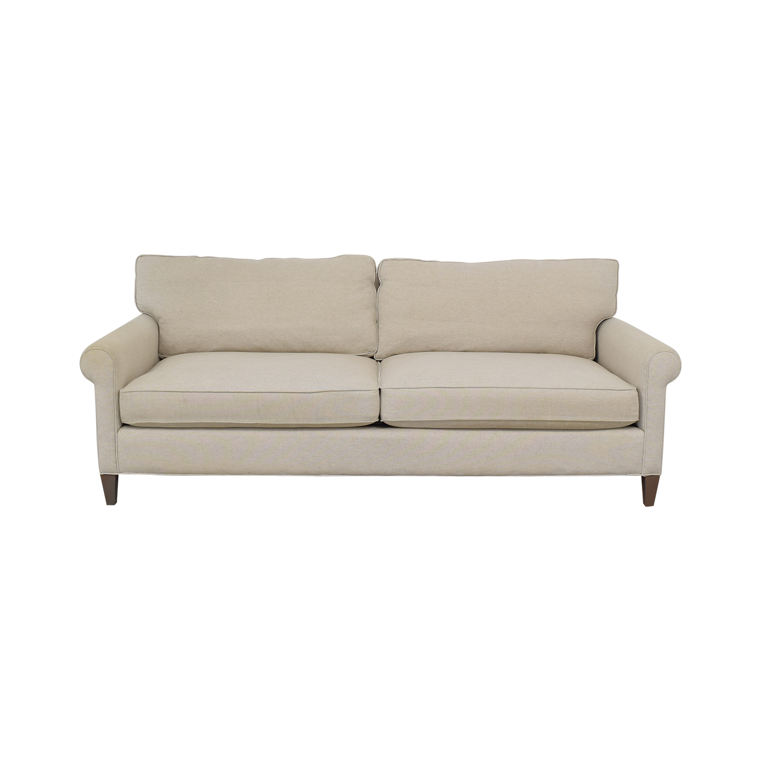 Crate and Barrel Roll Arm Sofa / Classic Sofas