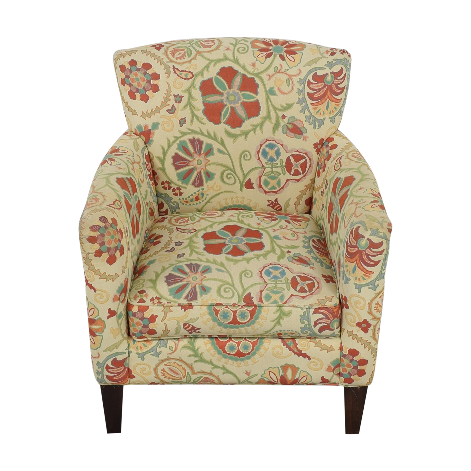 Crate & Barrel Crate & Barrel Upholstered Printed Armchair price