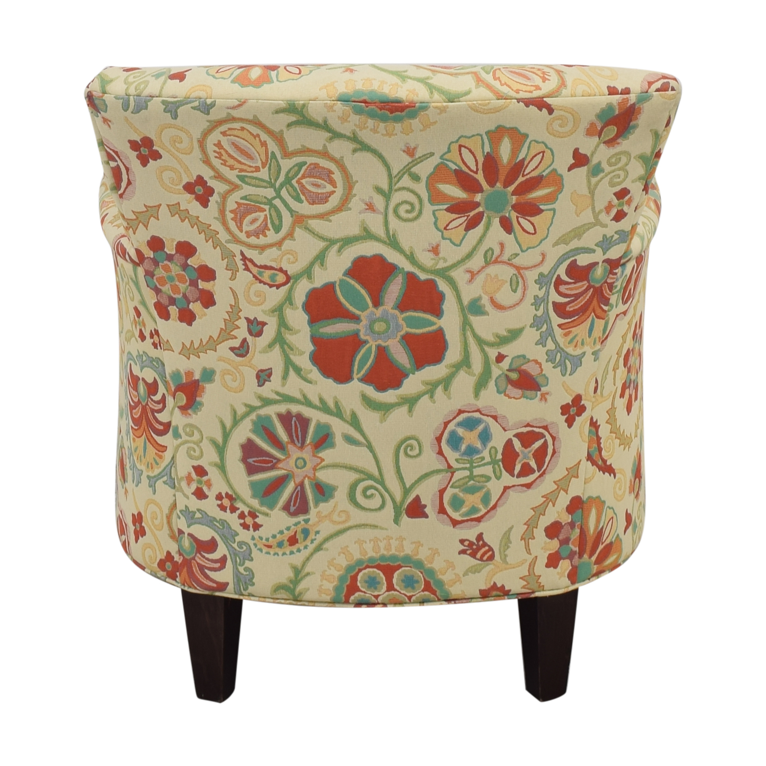 Crate & Barrel Upholstered Printed Armchair sale