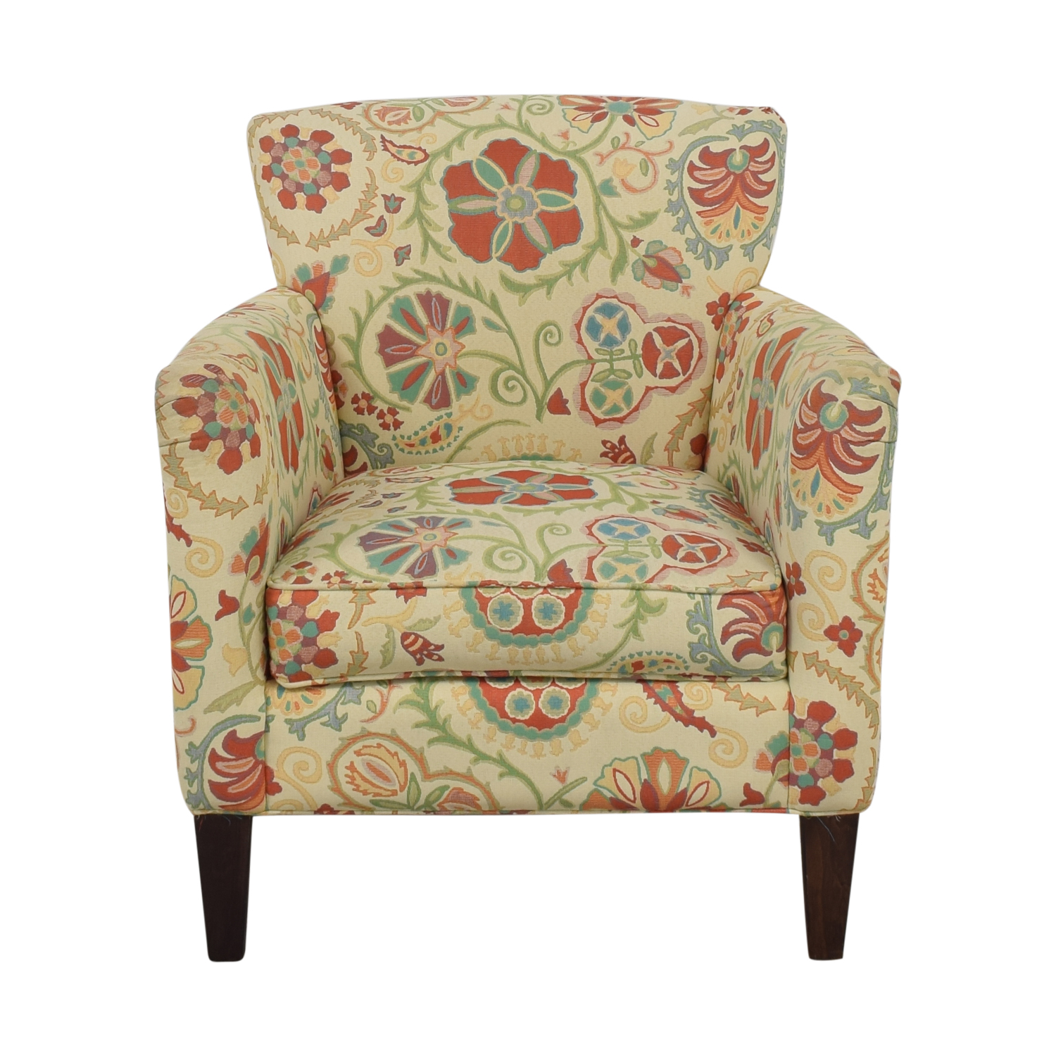 Crate & Barrel Upholstered Printed Armchair / Chairs
