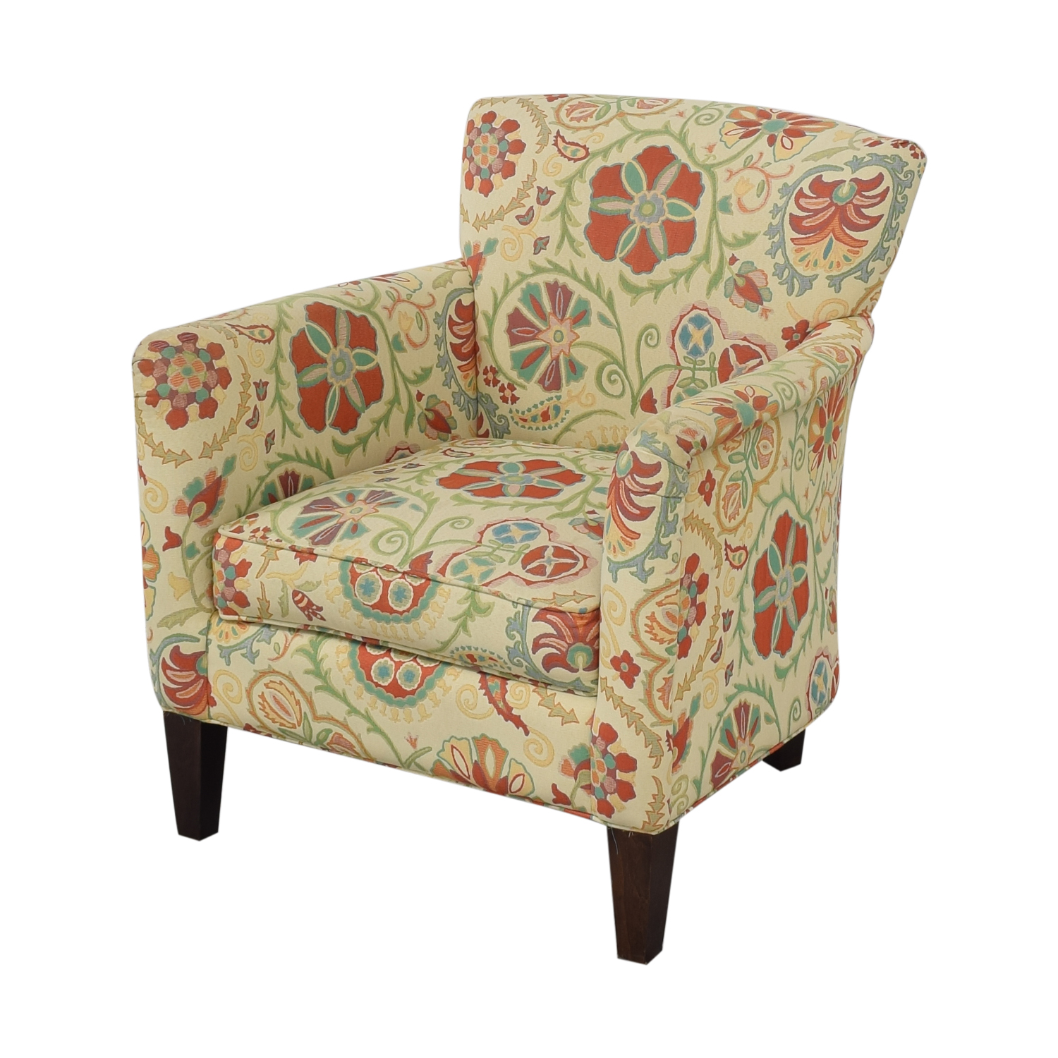 Crate & Barrel Crate & Barrel Upholstered Printed Armchair Chairs
