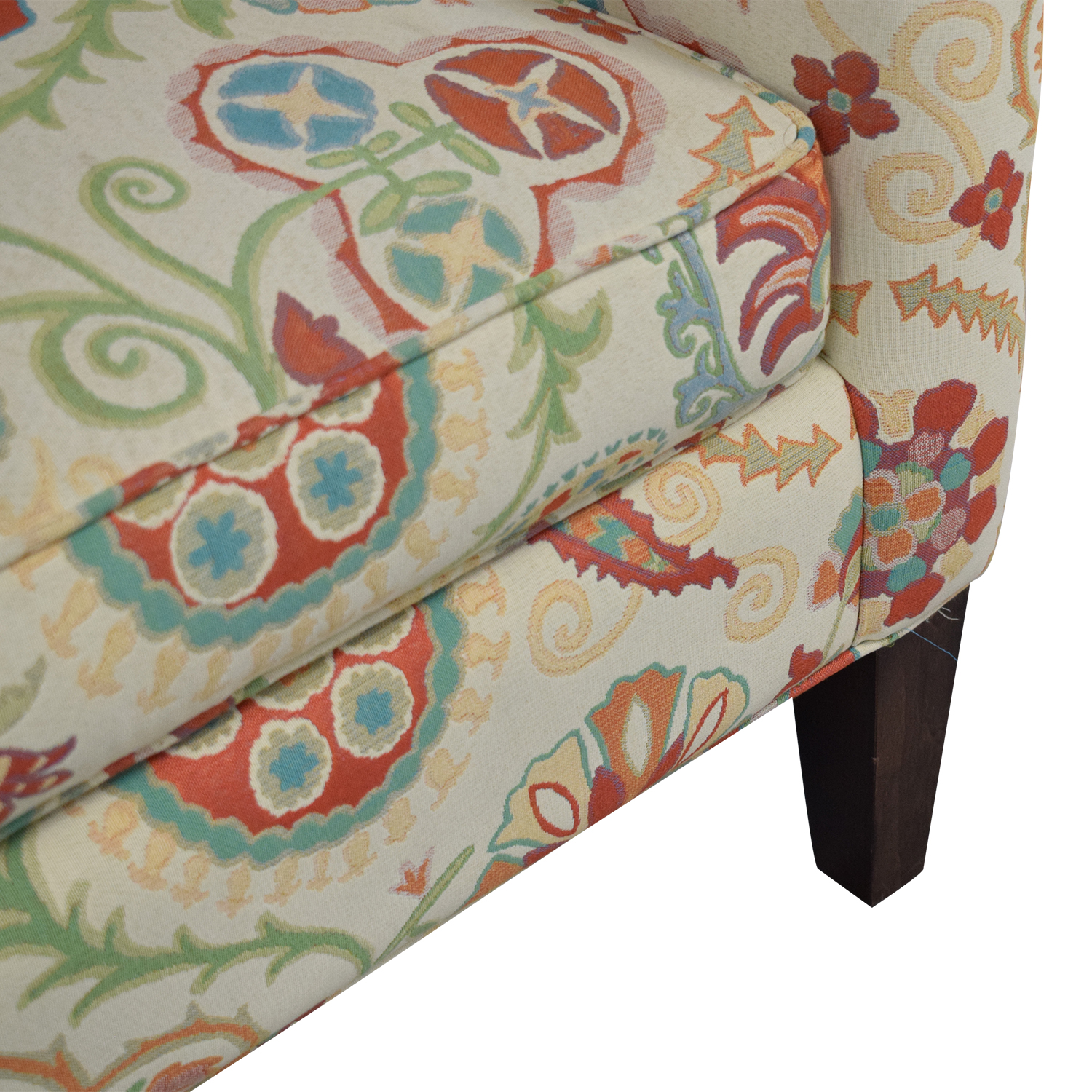 Crate & Barrel Crate & Barrel Upholstered Printed Armchair ma