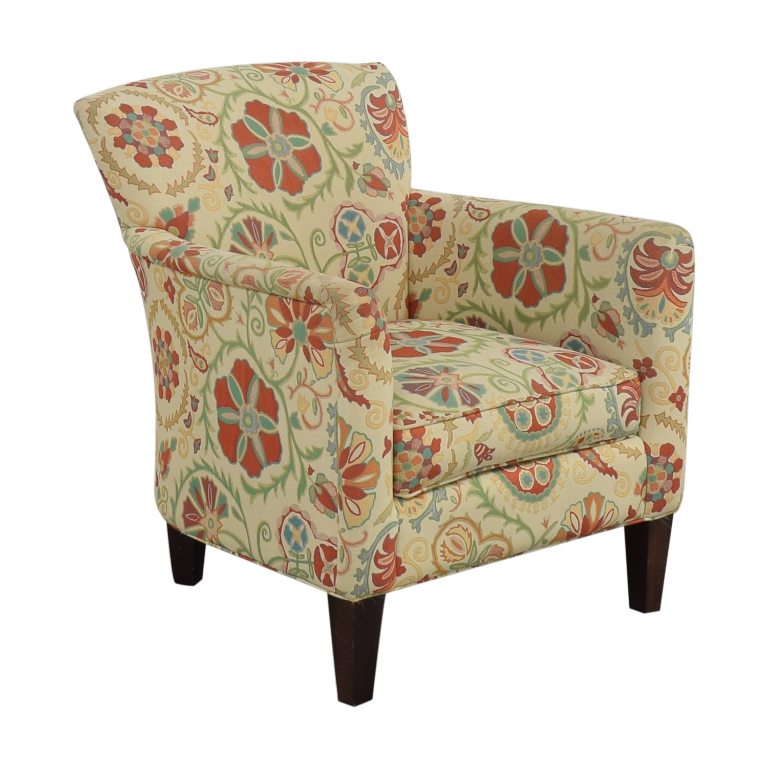 Crate & Barrel Crate & Barrel Upholstered Printed Armchair for sale