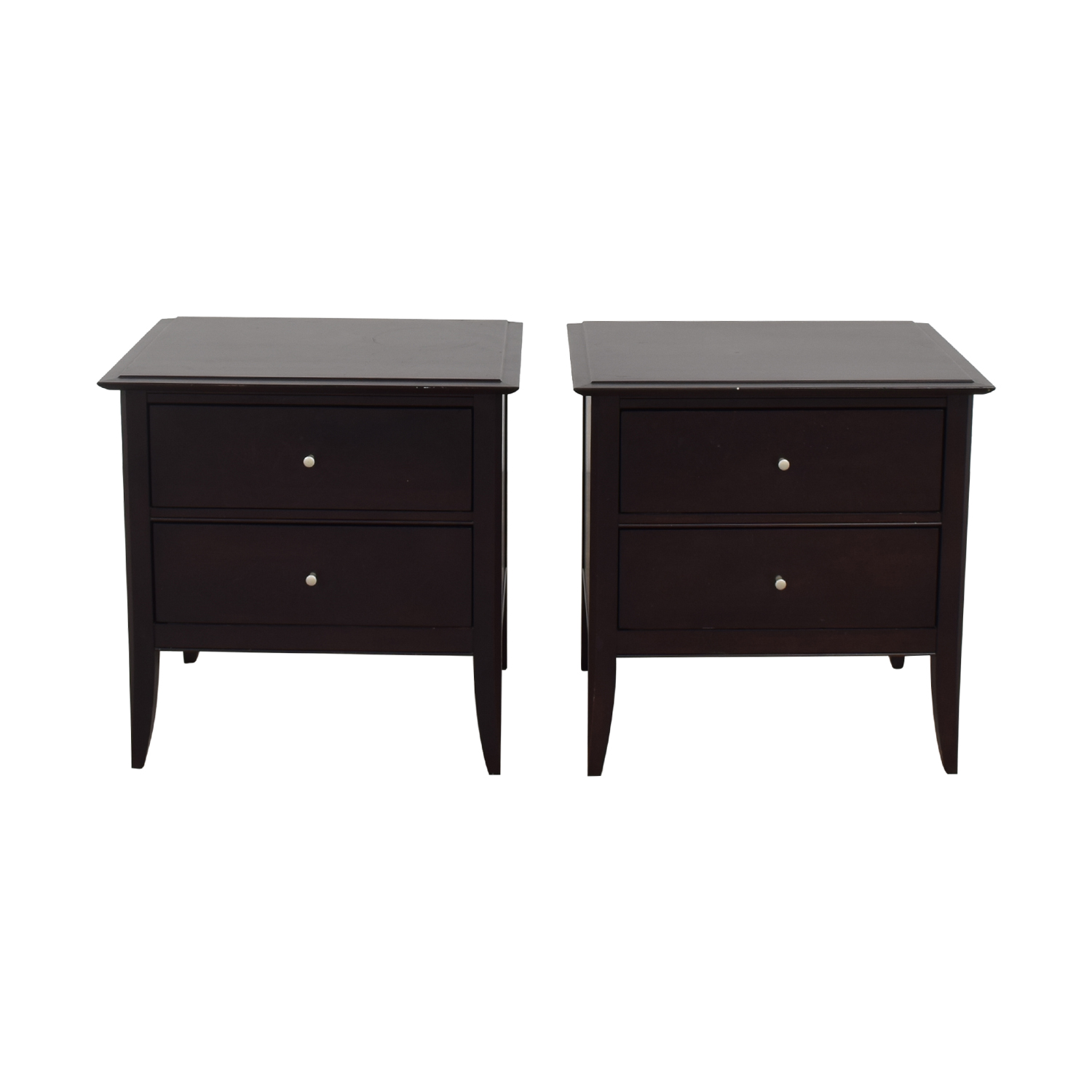 Baronet Baronet Modern Two Drawer Nightstands nyc