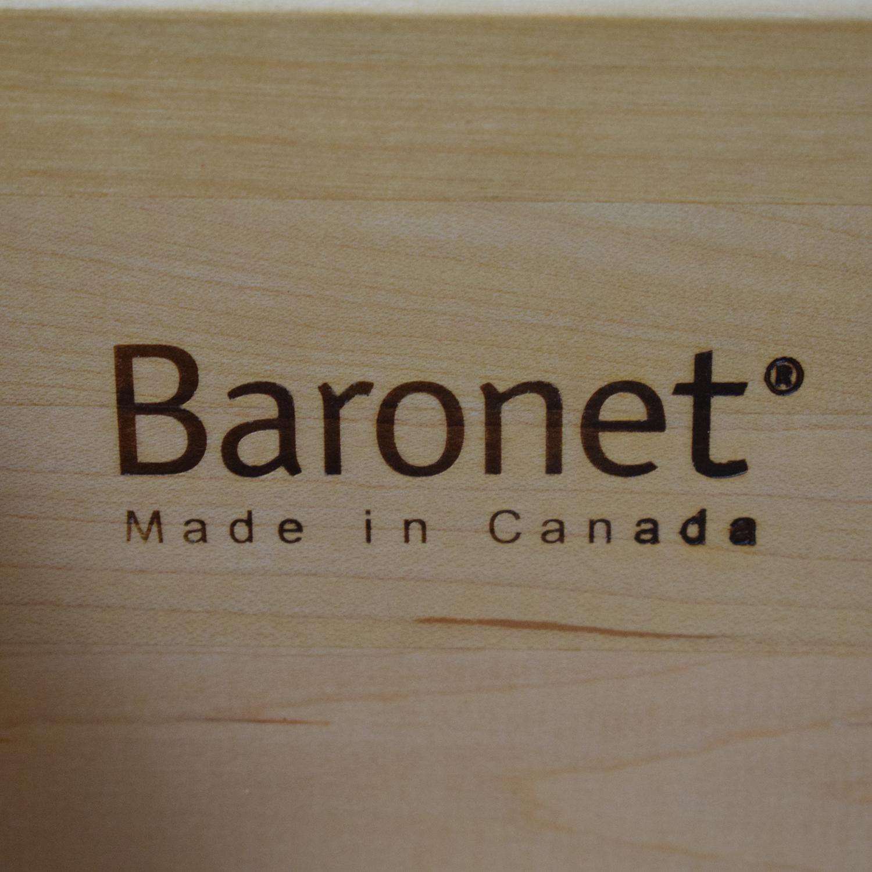 Baronet Baronet Modern Two Drawer Nightstands nj