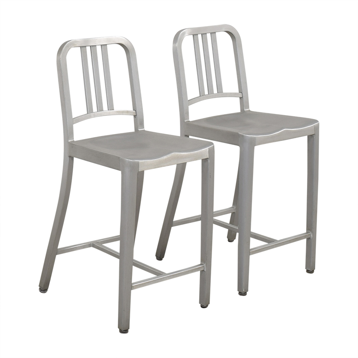 Design Within Reach Design Within Reach 1006 Navy Counter Stools ma