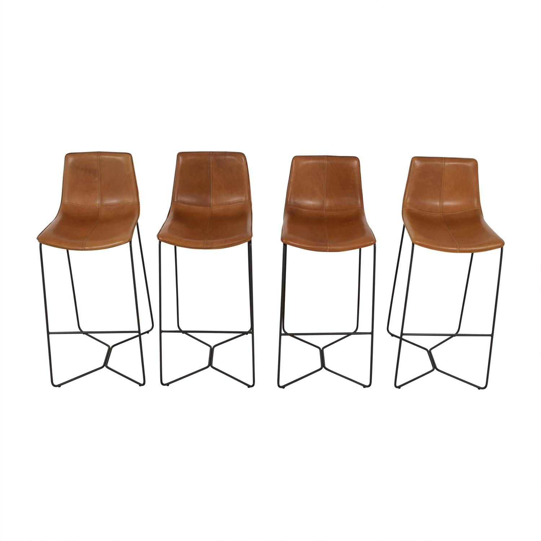 shop West Elm Slope Bar Stools West Elm Chairs