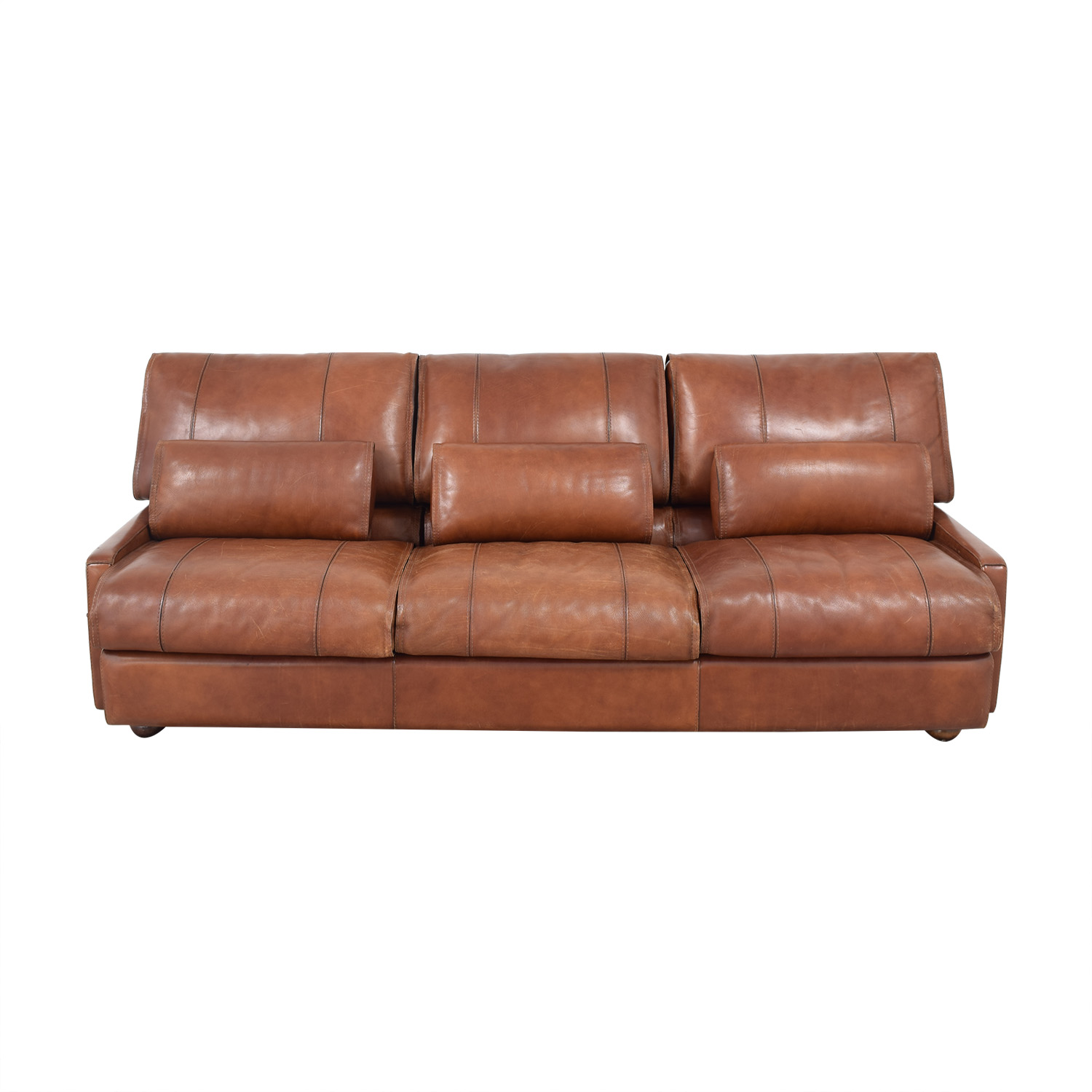Modern Italian Leather Sofa brown