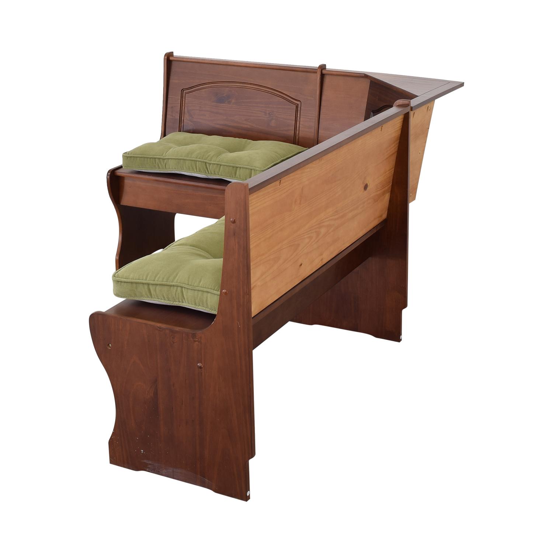 Linon Home Decor Linon Home Decor Breakfast Bench with Storage brown