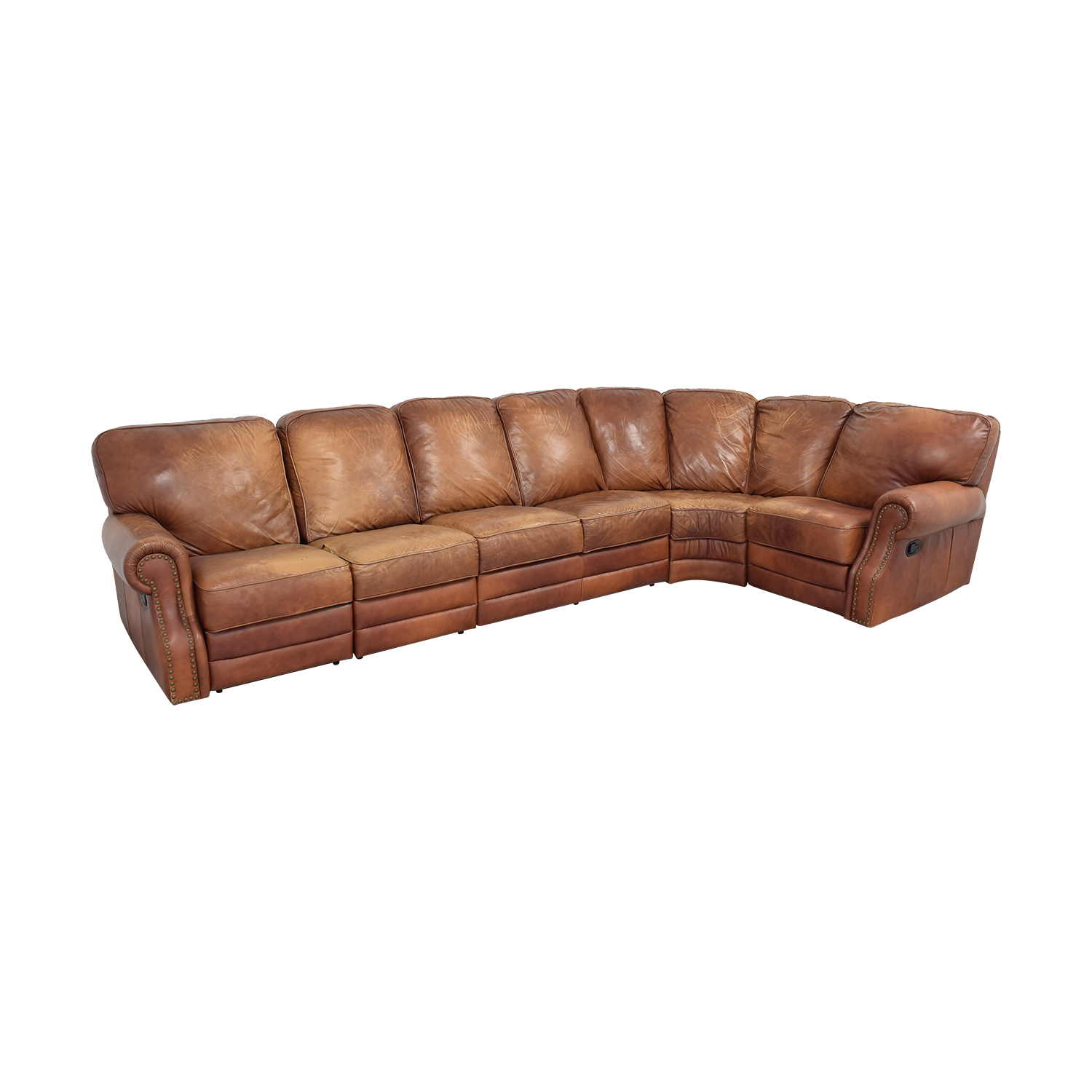 shop DeCoro Leather Sectional Sofa DeCoro Sectionals